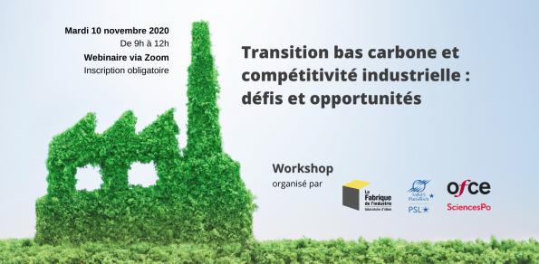 Transition bas carbone et compétitivité industrielle : défis et opportunités